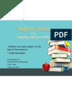 power point parent night reading strategies