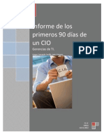 Plan de Trabajo de Los Primeros 90 Dias de Un CIO