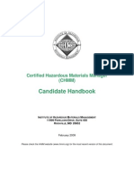 CHMM Candidate Handbook-Feb 2009 Without Appendicies