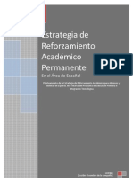 Plan de Reforzamiento académico español