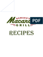 Romano's Macaroni Grill Recipes