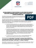 2013.03.18 NFL Press Release Settlement Offer Hearing Dryer vs NFL Films
