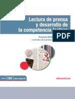 Lectura de Prensa y Desarrollo de La Competencia Lectura