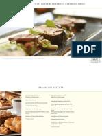 2009 Banquet Menu Packet