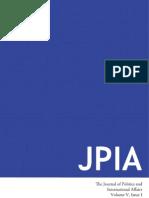 Winter 2013 Journal of Politics & International Affairs