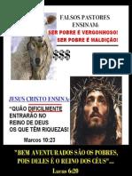 FALSOS PASTORES ENSINAM A GANÂNCIA E AVAREZA