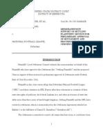 NFL Memo in Support settlement Offer Dryer vs NFL Films
