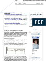 Chris Woodill_ How to Use Microsoft Project Efficiently
