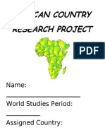 africa research packet 2013