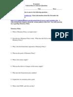 Federal Reserve Internet Questions 2