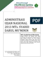 ADMINISTRASI UJIAN NASIONAL 2013 TP 2012/2013