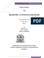 Biometric Attendance Register Report