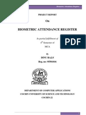 Biometric Attendance Register Report | Linux | Windows 7