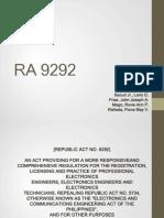 ECE LAWS RA 9292 part1