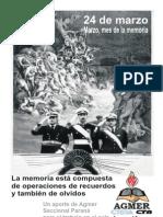 Cuadernillo Mes de La Memoria 2013