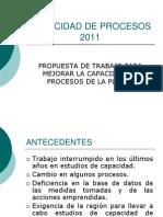 Capacidad de Procesos 2011