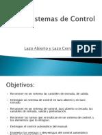 Sistemas de Control Lazo Abierto y Cerrado