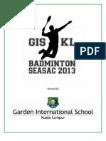 SEASAC Badminton 2013 Programme