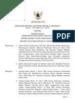 Permenhut 2012-37 Rencana Kerja Kementerian Kehutanan Tahun 2013