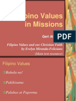 Filipino Values in Missions