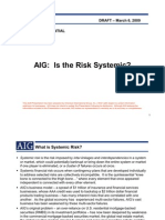 AIG's Report to Senate Banking Committee