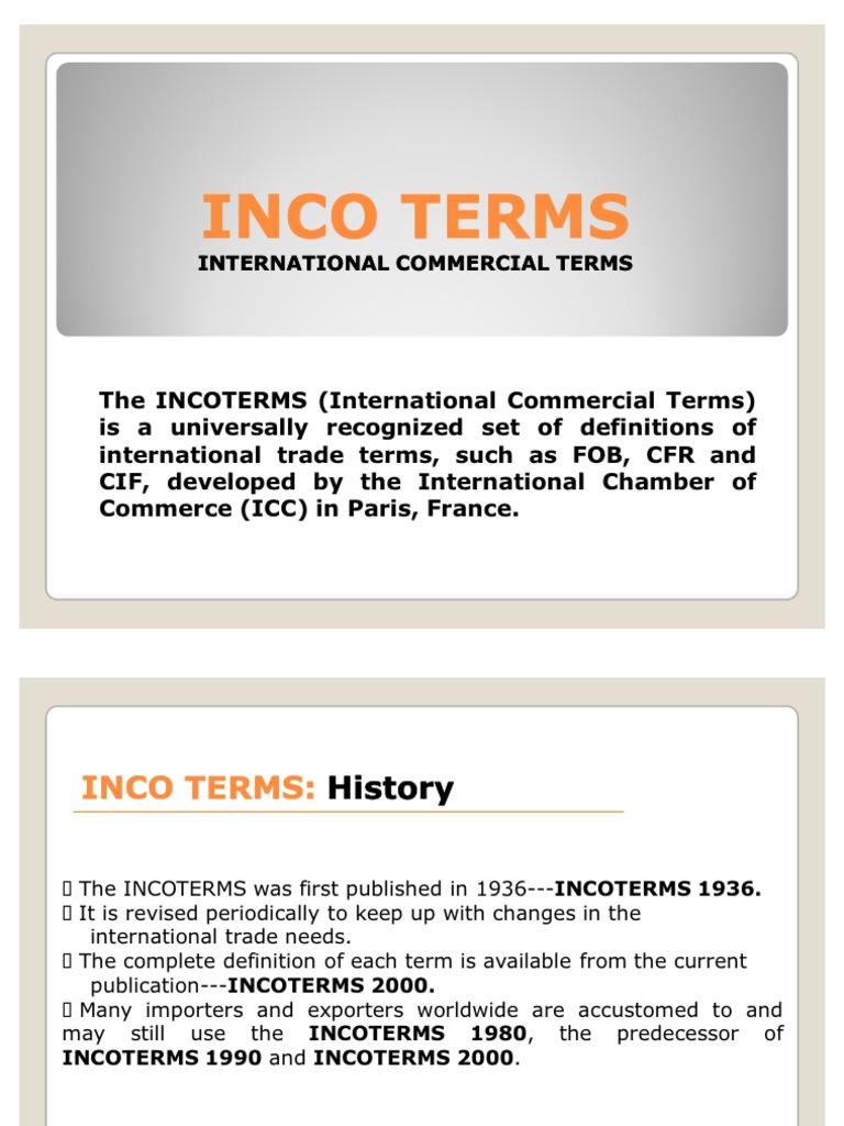 international commerce terms