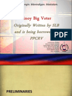 Pinoy Big Voter Powerpoint Presentation - NCR - Template