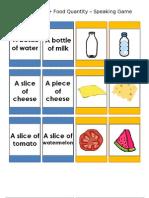 ESL Food Quantity Speaking Cards