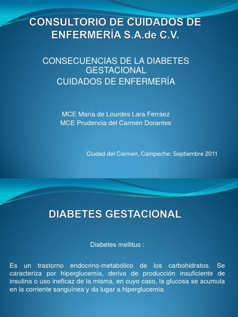 diagnóstico de enfermería nanda diabetes gestacional