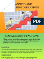 Planning and Evaluating Operations - 1