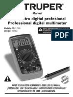 Manual Multimetro Mut 105 Truper