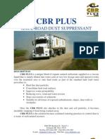 CBR PLUS Haul Road Dust Suppressant