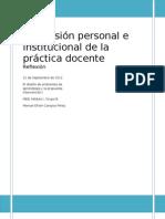 DIMENSIÓN PERSONAL E INSTITUCIONAL EN LA PRÁCTICA DOCENTE