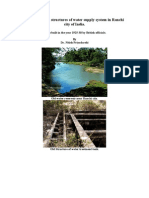 Report on remains of old structures of water supply system in Ranchi city of India.