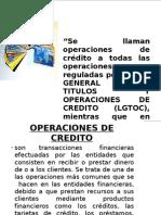 Operaciones de Credito y Bancarias