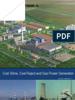 Coal Slime, Coal Reject and Gas Power Generation