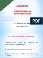 1.2 -  Clasificación de los instrumentos