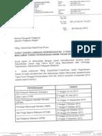 Surat Siaran Makluman Tarikh Peperiksaan Awam Tahun 2013