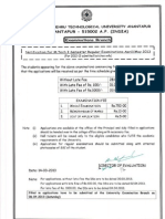 JNTUA MTech I II Sem Reg Supply Exam Fee Notifications 15032013