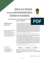 Enfoque Ortodoncico en El TX Multidisciplinario de Px Adultos. Relacion Con Periodoncia.