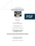 Proposal for Food Crisis Program