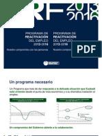 Plan para la Reactivación del Empleo 2013-2016
