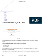 4 Native and Open SQL in ABAP