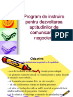 Program de Instruire Pentru Dezvoltarea Aptitudinilor de Comunicare