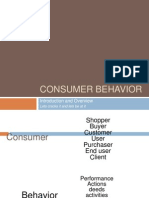Consumer Behavior Introduction Ppt