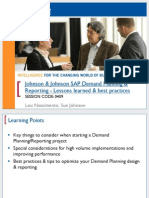 0409 Johnson Johnsons Demand Planning Reporting - Lessons Learned Best Practices