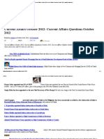 Current Affairs October 2012