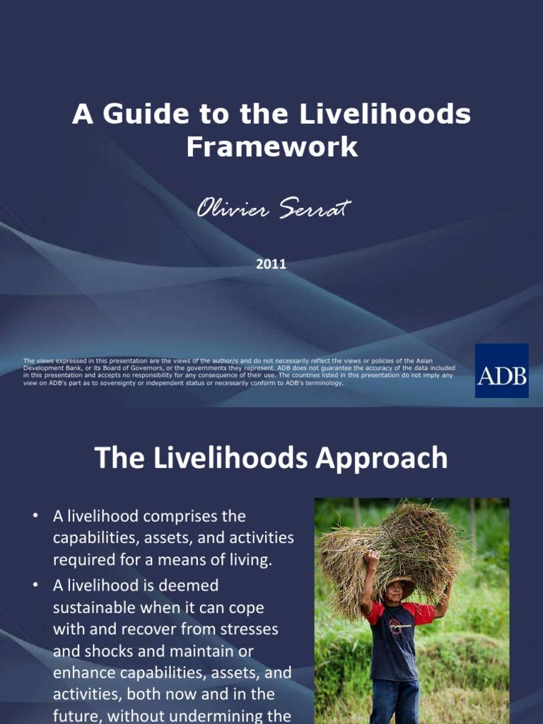 A Guide to the Livelihoods Framework | Financial Capital