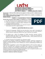 TESTE 1 AGP 2012.2 PL VA