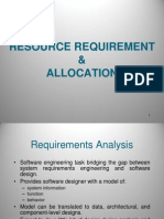 Resource Requirement and Allocation